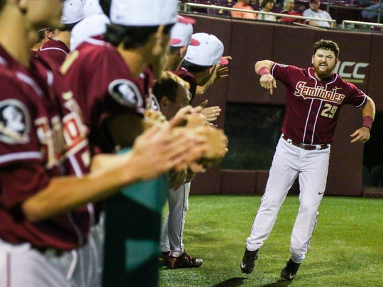 Florida State senior first baseman Quincy Nieporte