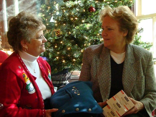 Helen Burke, director of Valley Mission, and Kathleen Stinehart, proprietor of Cranberry's Grocery & Eatery pictured in 2007.