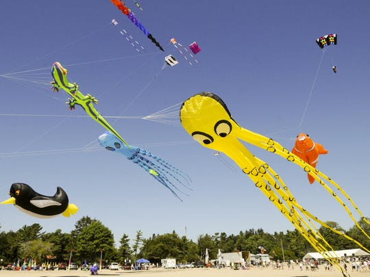 Kites fly high at the annual Kites over Lake Michigan in Two Rivers.
