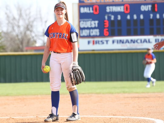 San Angelo Central High School freshman pitcher Ashton McMillan should be smiling after earning Co-Newcomer of the Year honors on the 2018 All-District Softball Team.