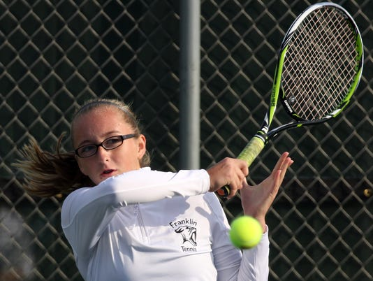 Franklin Girls Tennis at Greenfield Sectional