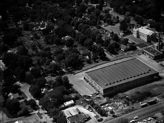 Aerial view of the Assemblies of God headquarters in Springfield, Missouri.
