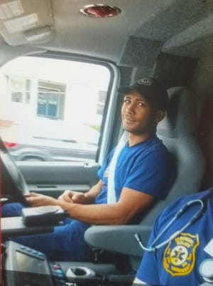 Yancey Quezada has served as a volunteer EMT in Lyndhurst for eight years.
