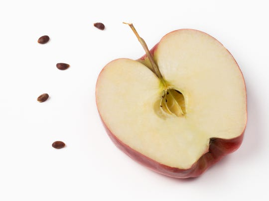 According to superstitions, cut an apple in half, count