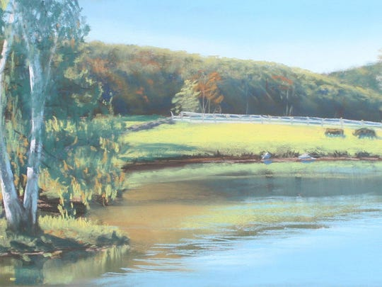 """""""Clove Brook Farm, Salisbury Mills,"""" by Shawn Dell Joyce, is in the """"Inspired by Plein Air"""" exhibition at Arts Mid-Hudson gallery."""
