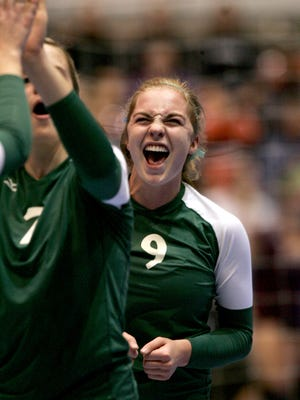 West High junior Caroline Found during a 4A quarterfinal match against at the 2010 state volleyball tournament.