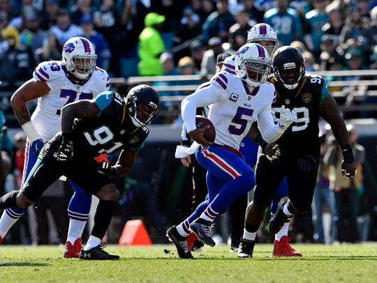 Jan 7, 2018; Jacksonville, FL, USA; Buffalo Bills quarterback