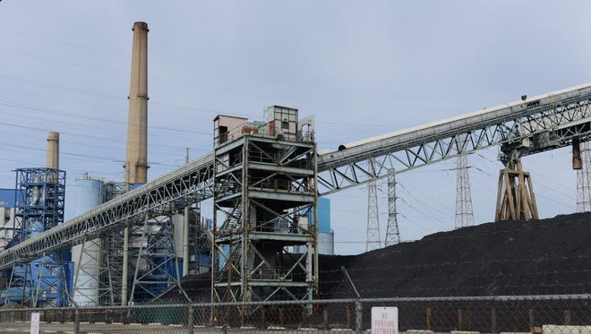Public Service Electric and Gas Company's power plant on the Hackensack River in Jersey City.