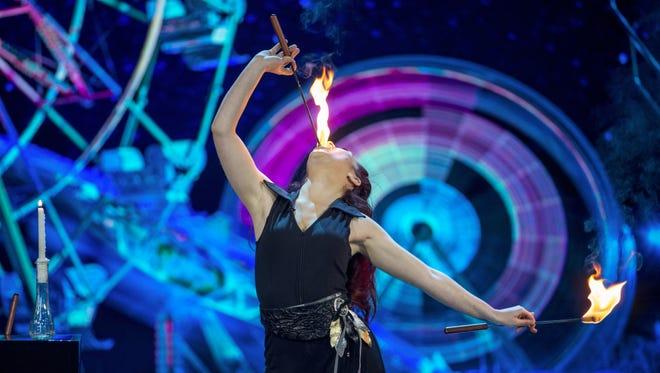 "Gatlinburg magician Jessica Jane Peterson performs on ""Penn & Teller: Fool Us."""
