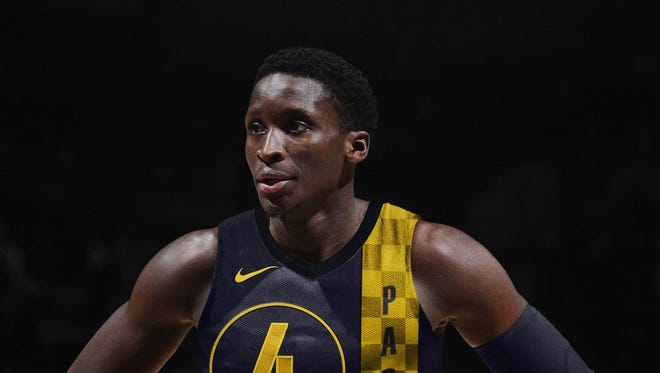 This is a design based on a supposed accidental leak on NBA 2K18. It's not real. But it could be pretty close to the Pacers' 'City' jersey design.