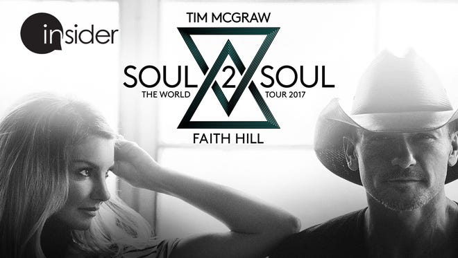 Win tickets to Tim McGraw and Faith Hill's Soul2Soul tour.