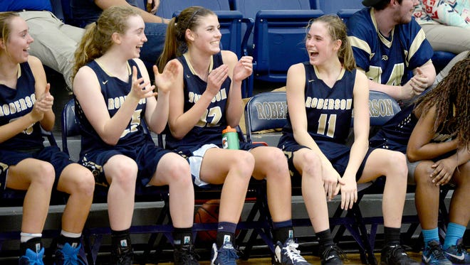 Camryn Jansen (11) scored a game-high 29 points for the Roberson girls on Wednesday night.