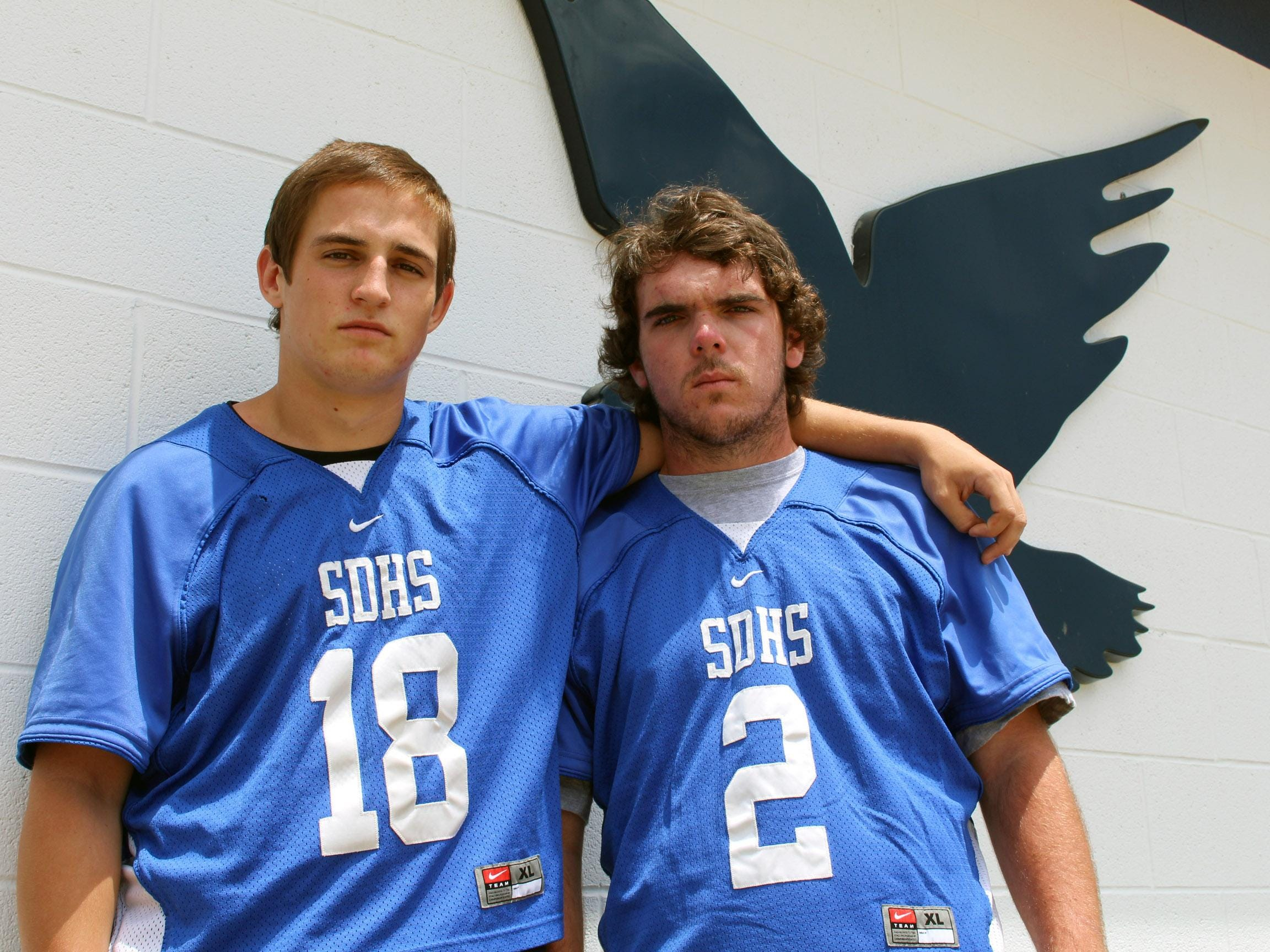 Stephen Decatur's Corey Gwin, left, and Will Hastings earned All-Bayside South Offensive and Defensive Players of the Year in their finals season for the Seahawks.