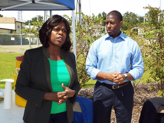 FAMU President Elmira Mangum on Tuesday joined a walking tour of the new FAMU Way, speaking with Mayor Andrew Gillum.