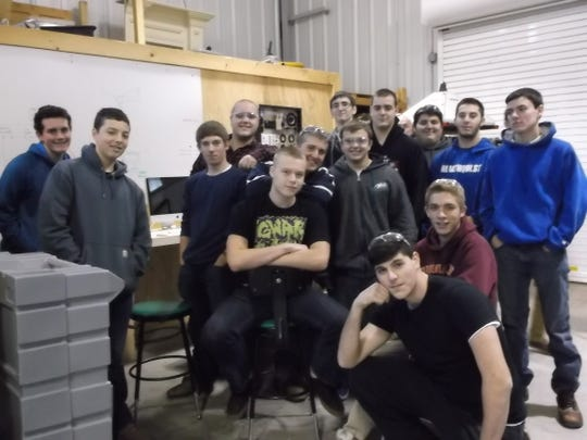 Hunterdon County Polytech 2014-15 high school Energy Technologies students are pictured here.