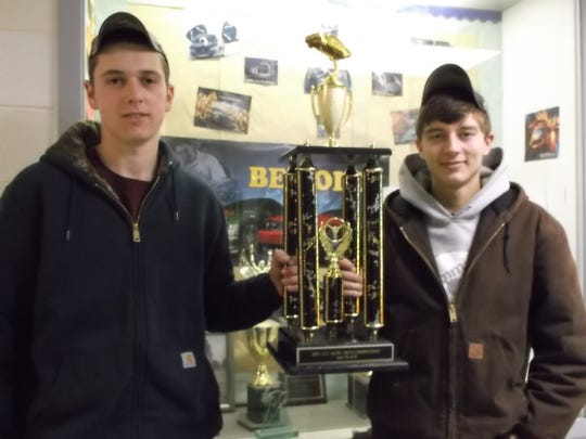 Dan Bowlby and Tyler Golis, Hunterdon County Polytech Automotive Technology students, won second place at the Greater Lehigh Valley Auto Dealers Association competition on Feb. 14.