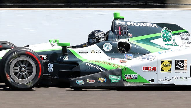 IndyCar driver Bryan Clauson (88) during practice for the 100th running of the Indianapolis 500 at the Indianapolis Motor Speedway.