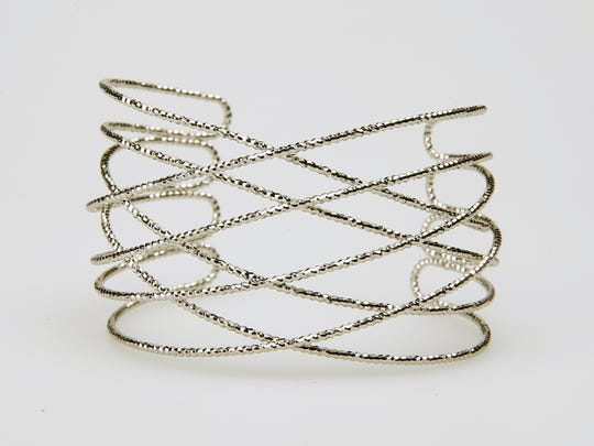Diamond cut cuff bracelet at Evie.