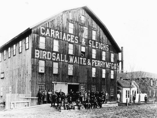 Birdsall, Waite & Perry wagon company, around 1890.