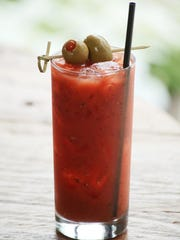 The Housemade Smoky & Spicy Bloody Mary at Harvest Restaurant in Louisville, KY. June 3, 2014