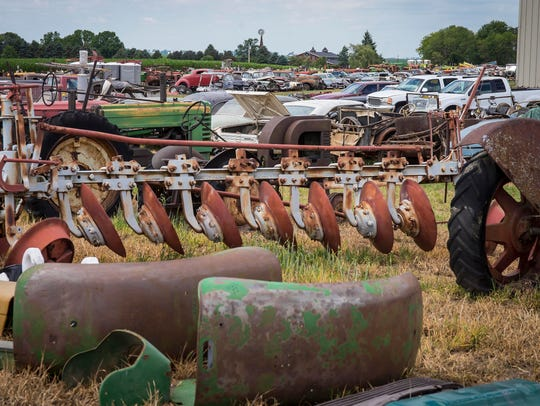 Massive collection of farm machinery, autos, pedal