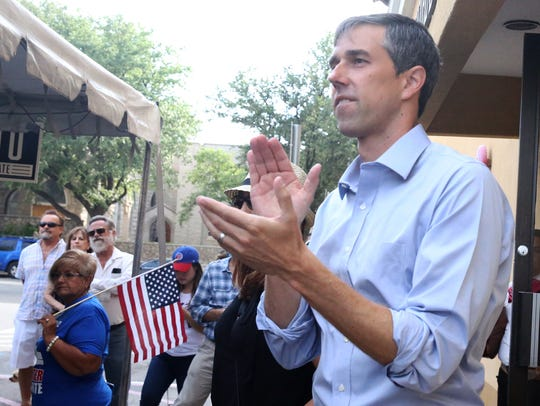 Democratic U.S. Senate candidate Beto O'Rourke appeared