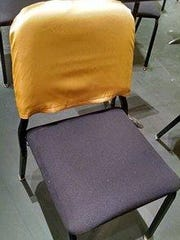 A gold chair back signifies that member of the Fox