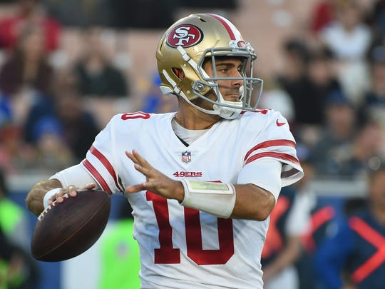 In five starts with the San Francisco 49ers, Jimmy Garoppolo was 5-0 and was the fifth-best fantasy quarterback over that span.