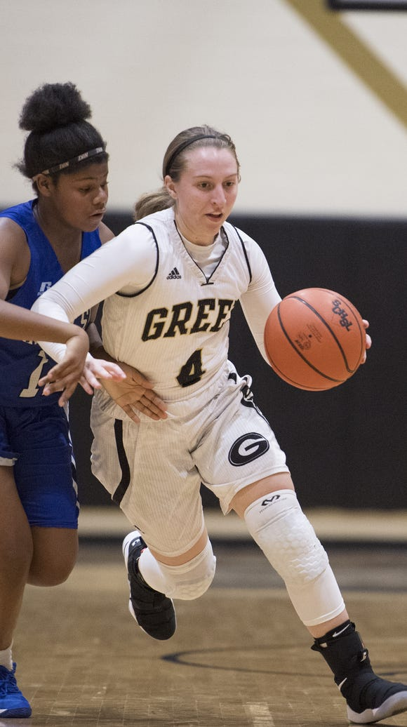 Greer's Megan Jones (4) will play for the East in Saturday's