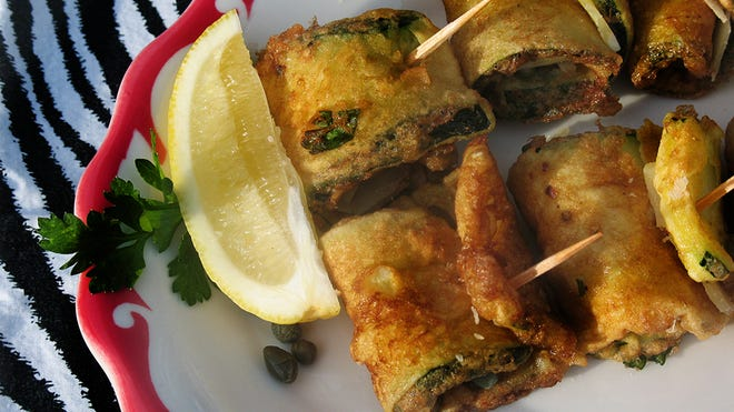 Zucchini roll-ups are a quick and savory appetizer to serve for Thanksgiving.
