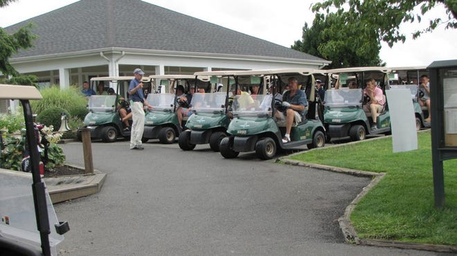 The Eastern Monmouth Area Chamber of Commerce holds a golf tournament at Jumping Brook Country Club, Neptune.
