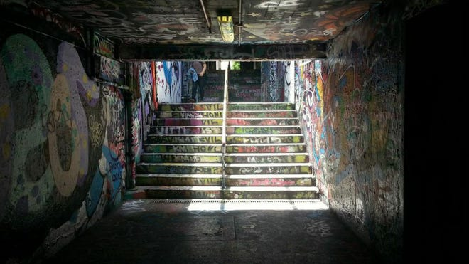 The graffiti tunnel at the University of Sydney