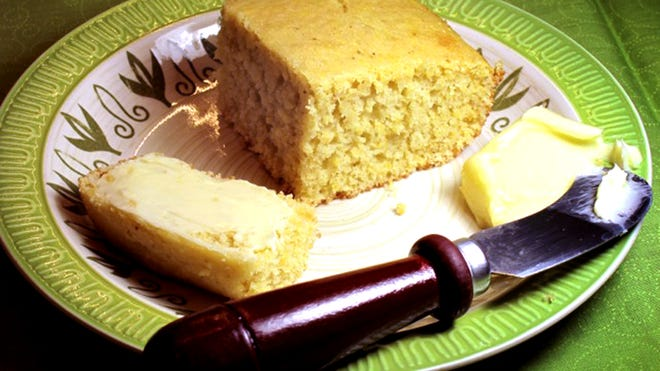 Buttermilk makes this cornbread tasty.