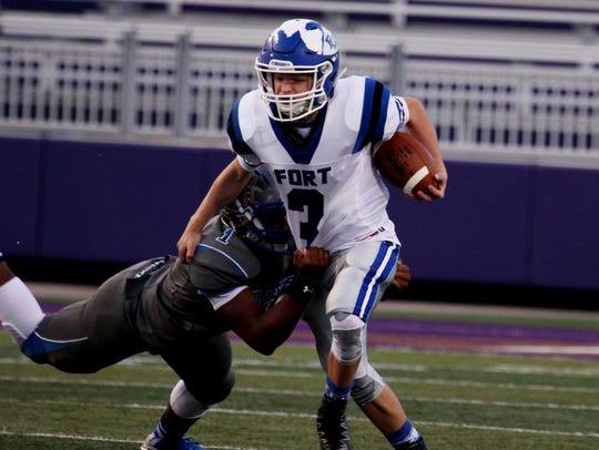 Fort Defiance's Cole Sligh had a 41-yard TD reception