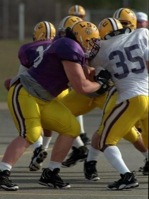 LSU's Alan Faneca for the Tigers while playing in a pair of Independence Bowls.