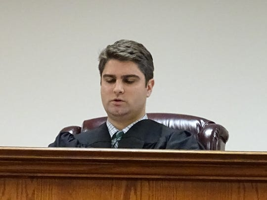 Judge Price hears a case in the Pike County Court. Price will run for a Court of Appeals Judge position in 2016.