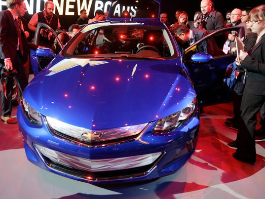 The 2016 Chevy Volt is unveiled during the North American