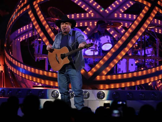Garth Brooks performs at the Joe Louis Arena on Friday