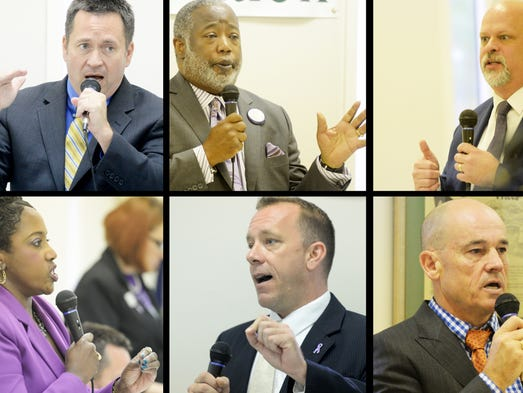 DA Candidates, left to right top row first, Dhu Thompson,
