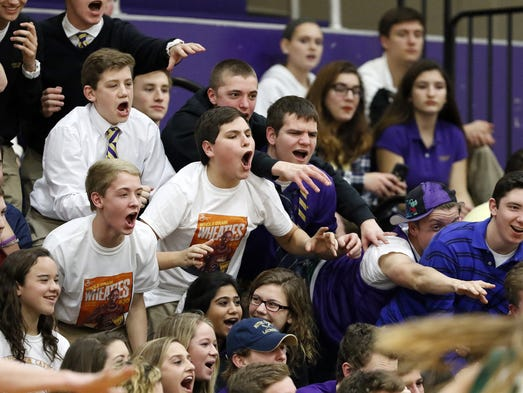The Lancaster Catholic student section made a strong