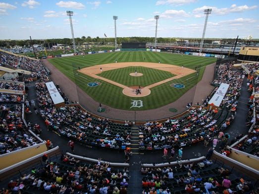 An overview of Joker Marchant Stadium in Lakeland,
