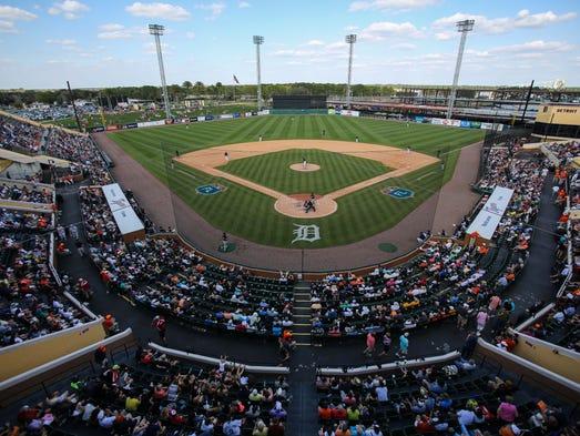 An overview of Joker Marchant Stadium in Lakeland,