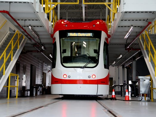 The QLINE streetcar, one of six that will be in operation