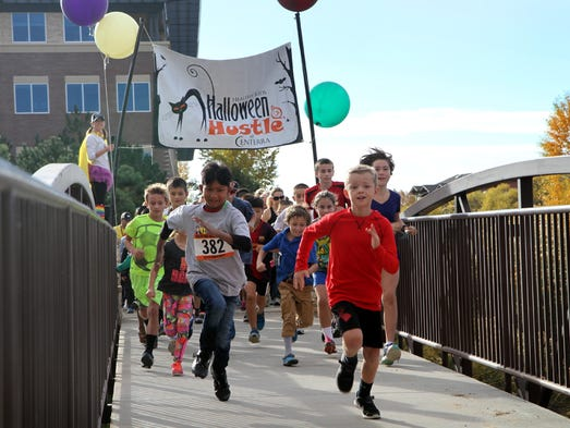 Nearly 1,000 people ran or walked in UCHealth Halloween