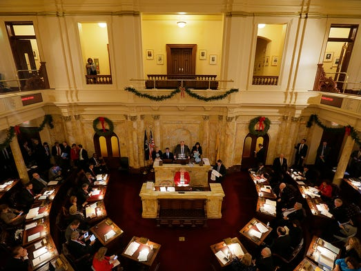 The New Jersey Senate conducts ceremonial resolutions