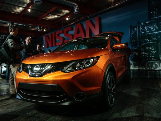 The front of the 2017 Nissan Rogue Sport is seen as