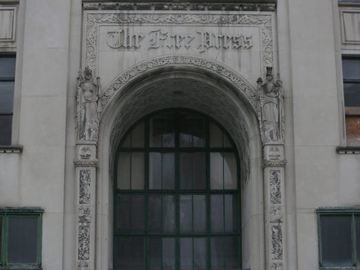 The main entrance of the old Free Press building at