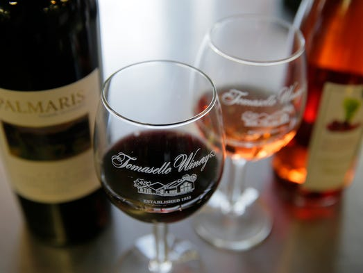 Two wines for Valentine's Day at Tomasello Winery at