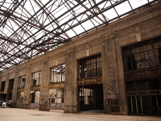 A view of the interior of Michigan Central Station