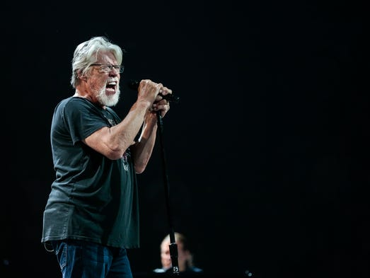Bob Seger and The Silver Bullet Band performs on stage